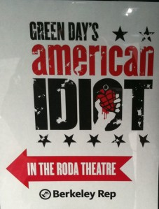 Green Day's American Idiot at the Roda Theatre Poster