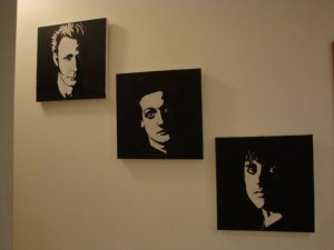 Mike Dirnt, Tre Cool and Billie Joe Armstrong by Kerry Harris