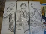 Green Day - Kerry Harris Triptych sketches