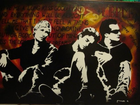 Green Day for Jax - Painting by Kerry Harris
